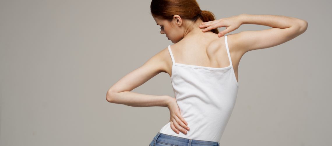 Woman with Scoliosis viewed from behind